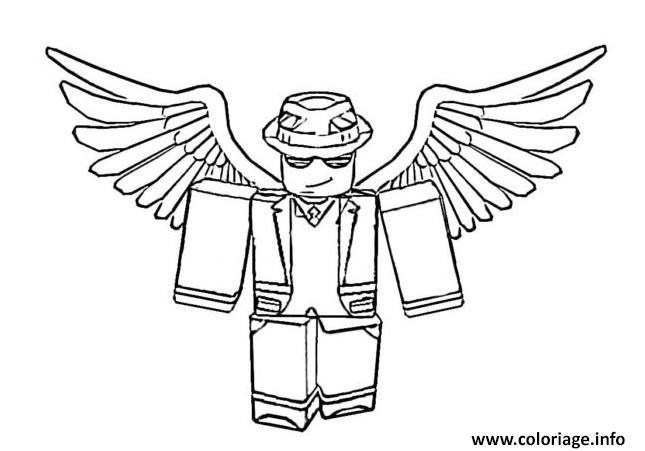 Dessin roblox angel Coloriage Gratuit à Imprimer