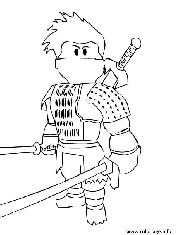 Dessin ninja roblox epee argent Coloriage Gratuit à Imprimer