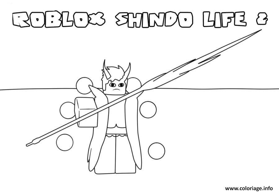 Dessin roblox Shindo Life 2 Coloriage Gratuit à Imprimer