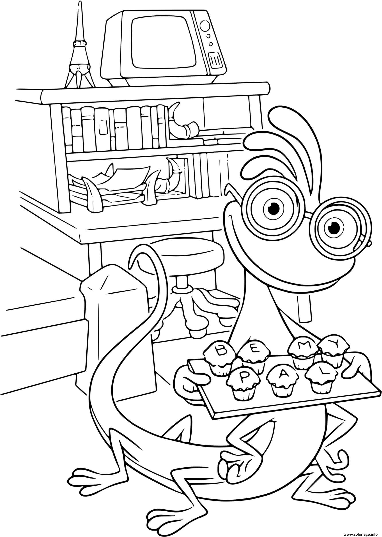 Dessin cupcake monsters inc Coloriage Gratuit à Imprimer