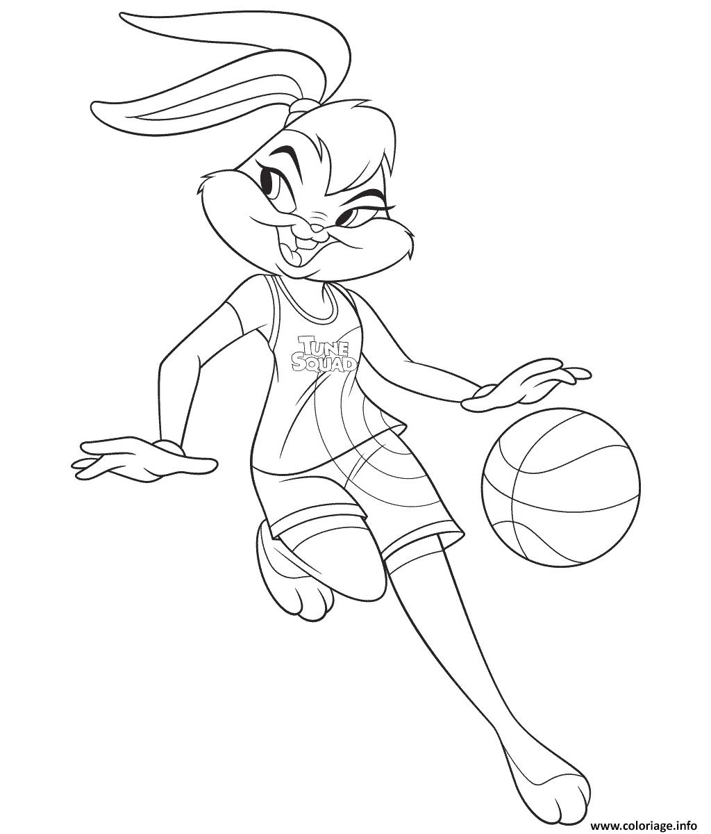 Dessin Lola Bunny Coloriage Gratuit à Imprimer