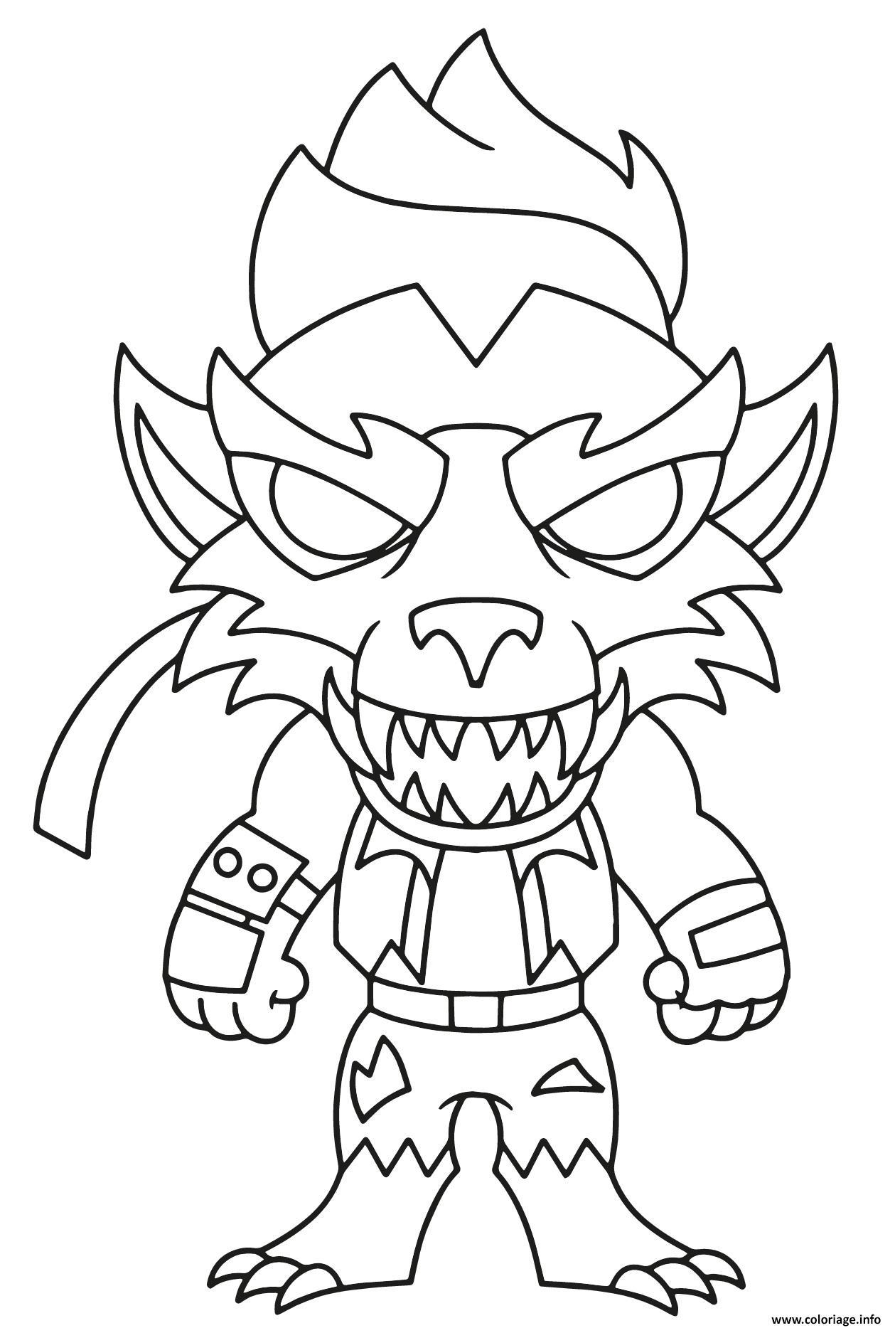 Dessin Tier Werewolf Dire Coloriage Gratuit à Imprimer