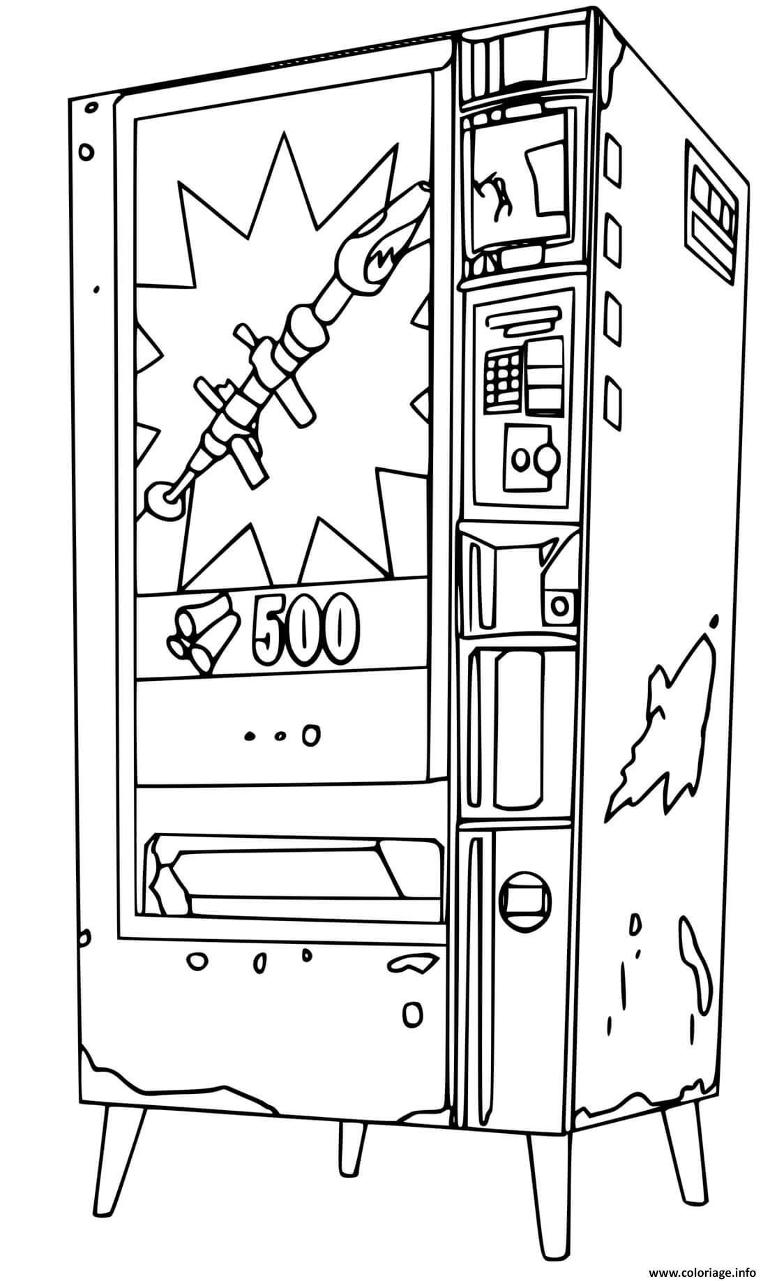 Dessin fortnite machine distributrice automatique Coloriage Gratuit à Imprimer