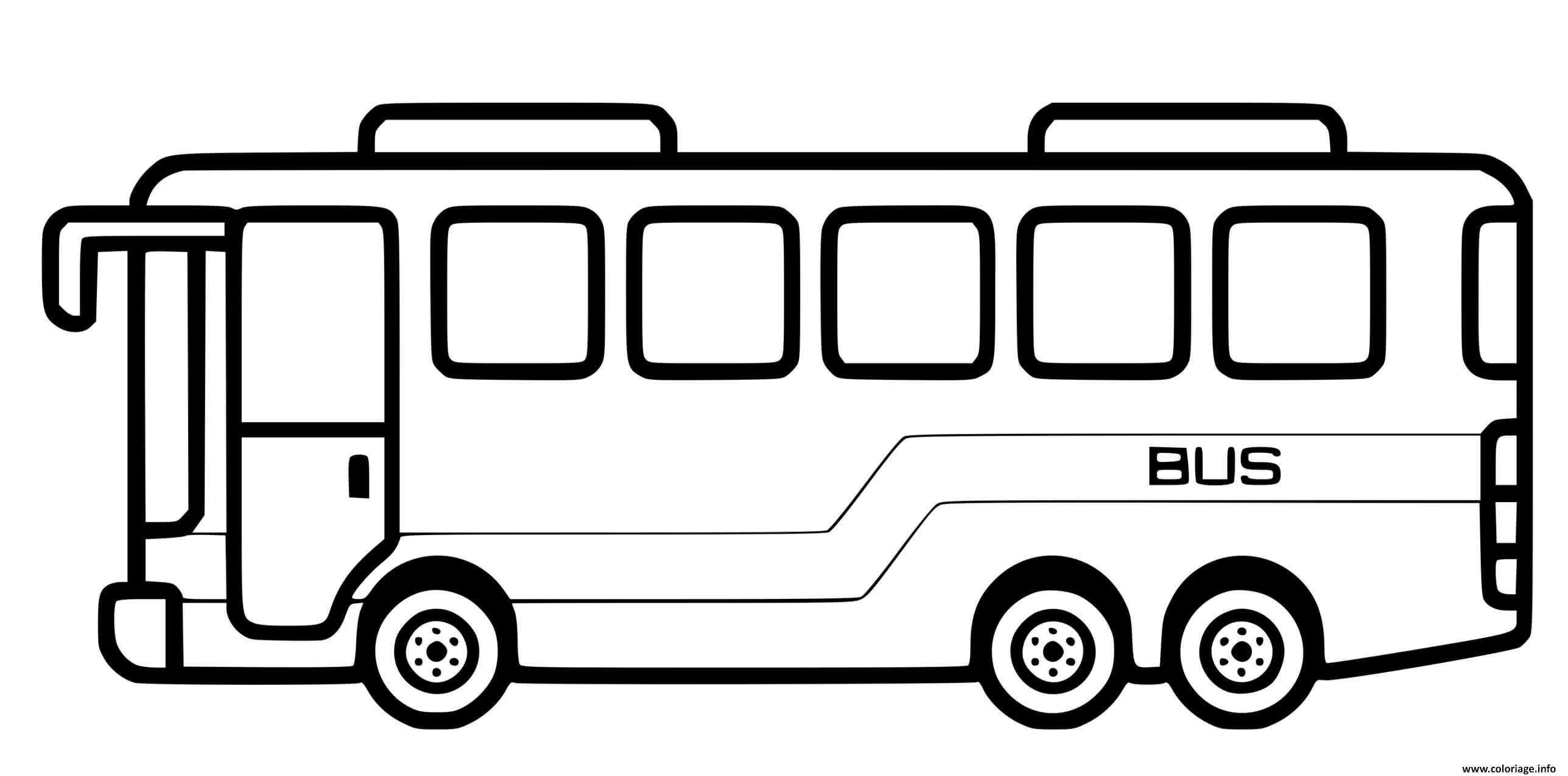 Dessin bus de transport de ville Coloriage Gratuit à Imprimer