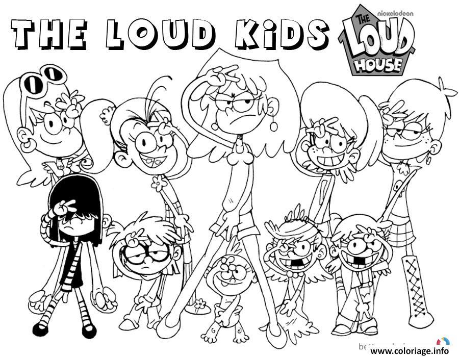 Dessin the loud kids la famille loud Coloriage Gratuit à Imprimer