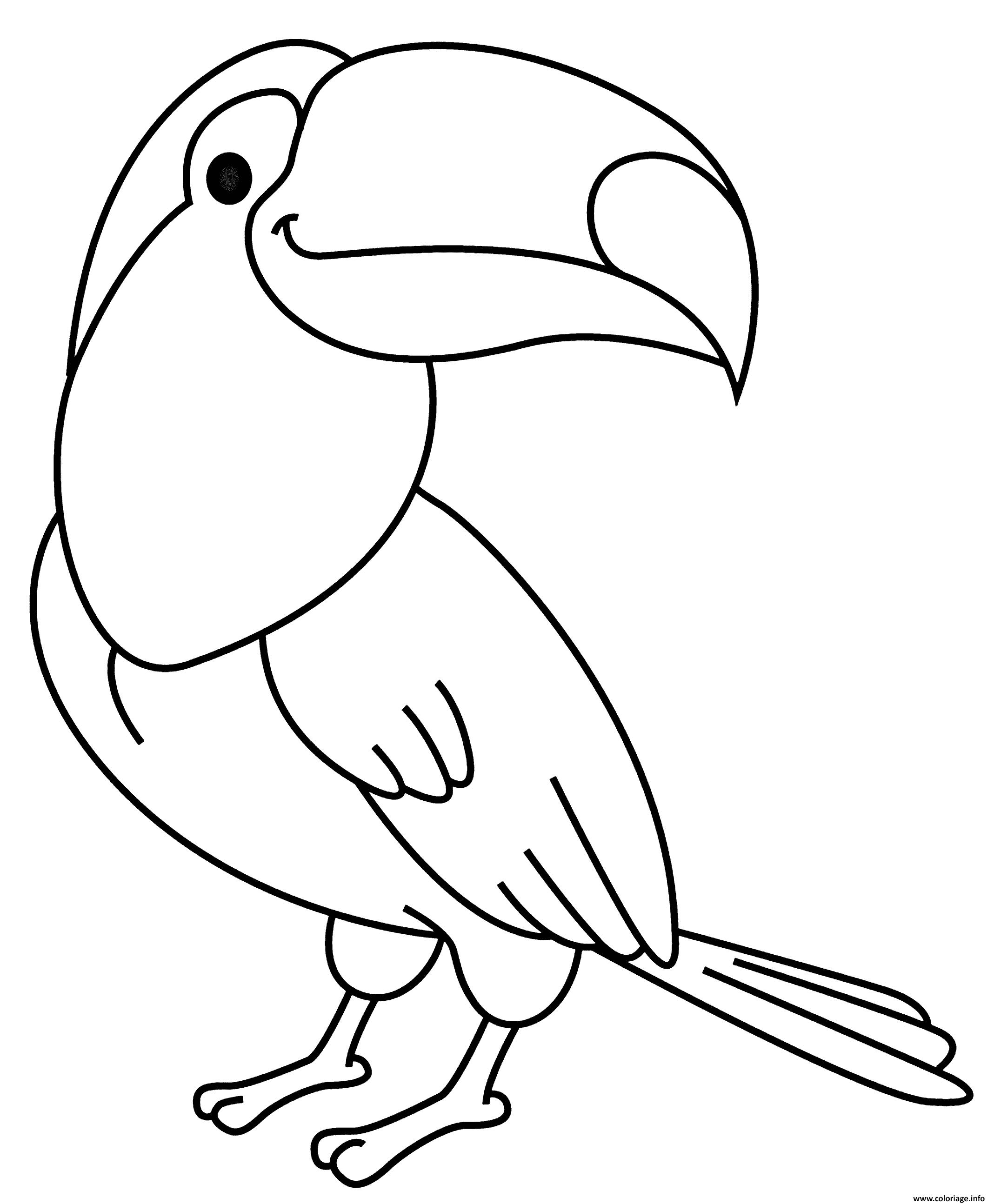 Dessin oiseau toucan Coloriage Gratuit à Imprimer