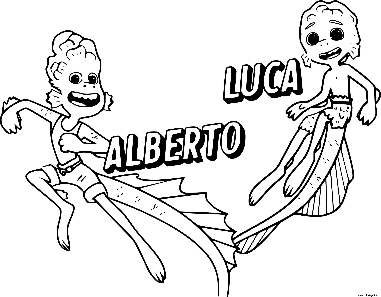 Dessin monstre marin Alberto and Luca Coloriage Gratuit à Imprimer