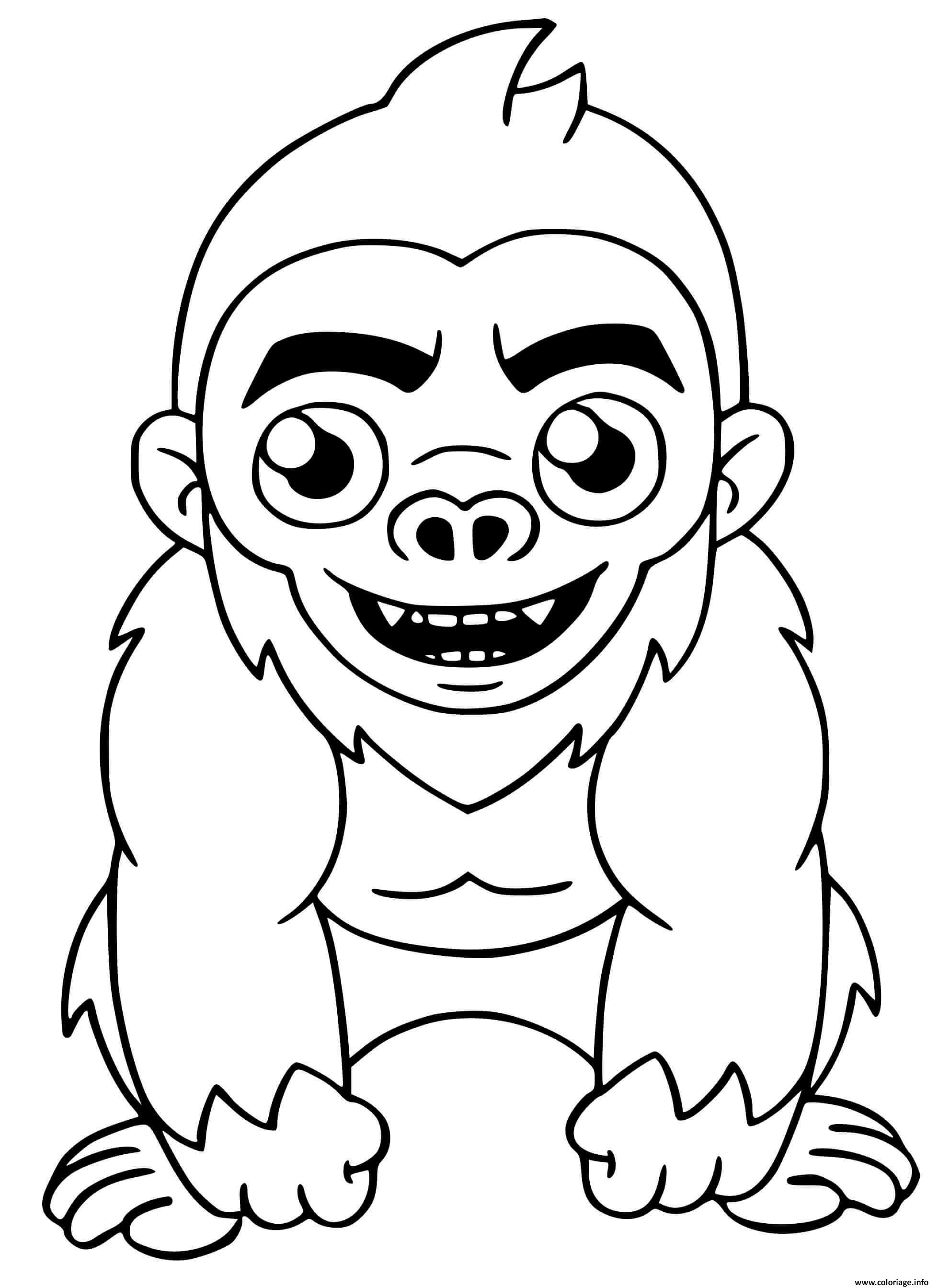 Dessin Fortnite Beast Boy Monkey Skin Coloriage Gratuit à Imprimer