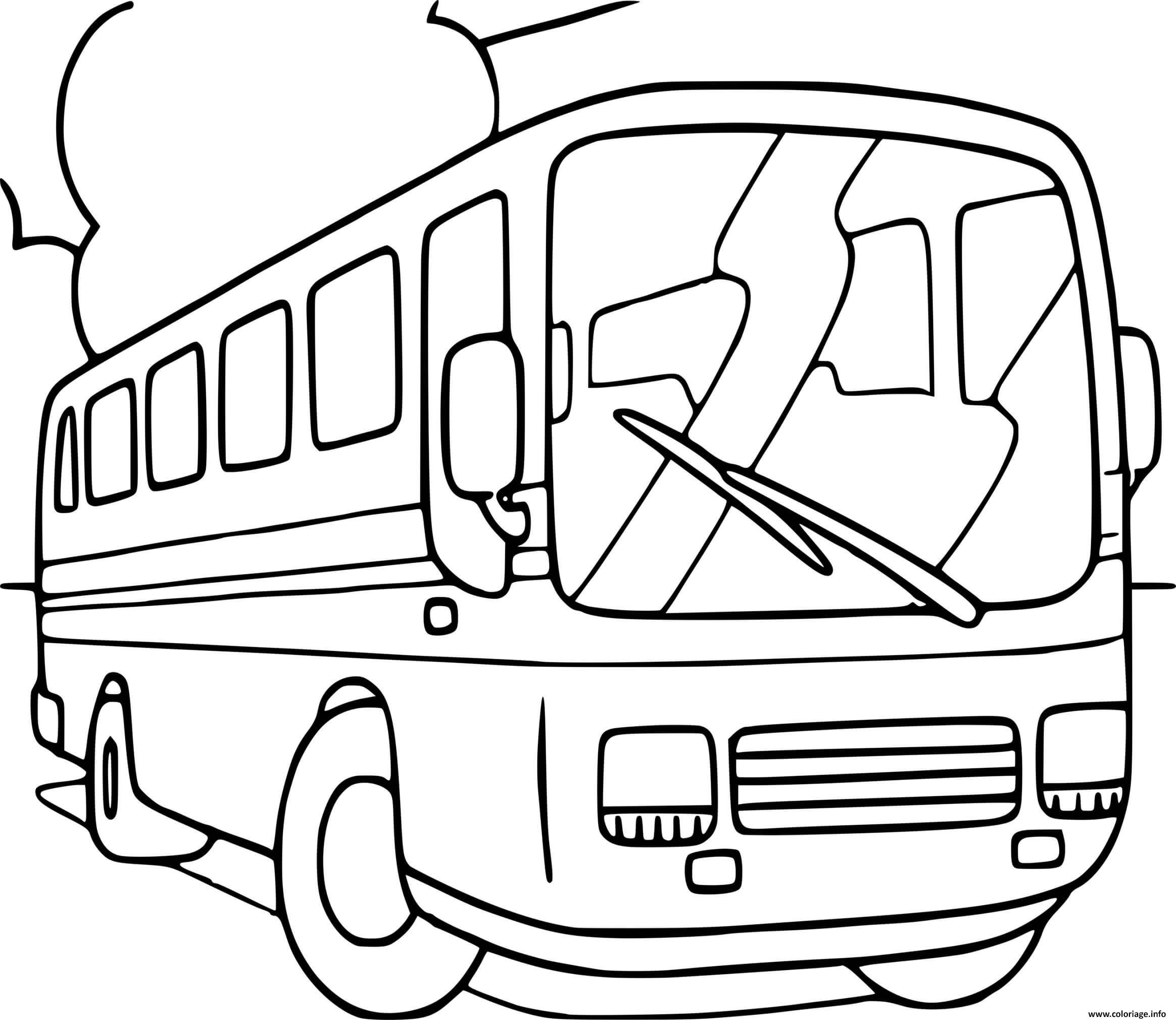 Dessin autobus autcar Coloriage Gratuit à Imprimer
