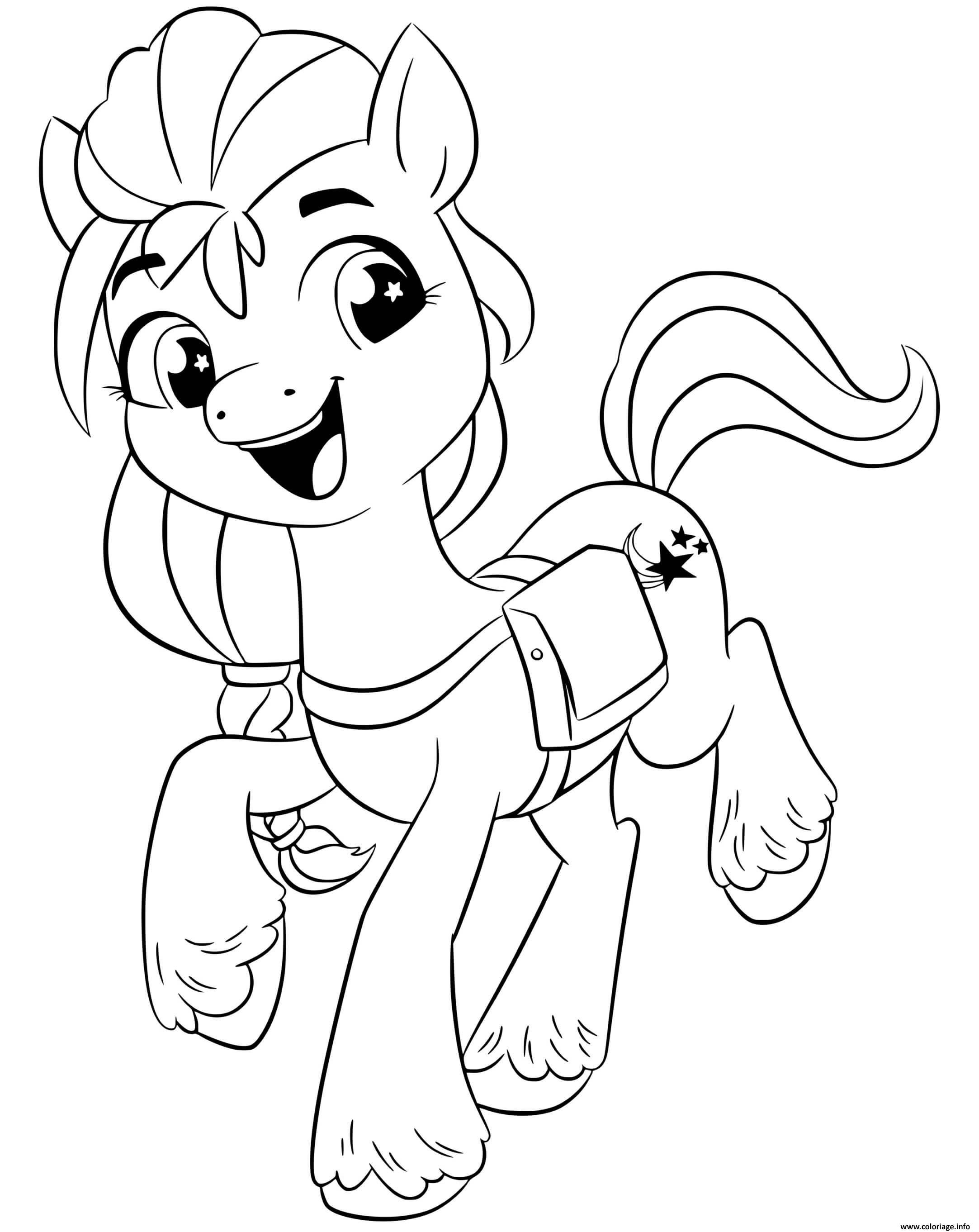 Dessin sunny starscout est une pony curieuse mlp 5 Coloriage Gratuit à Imprimer