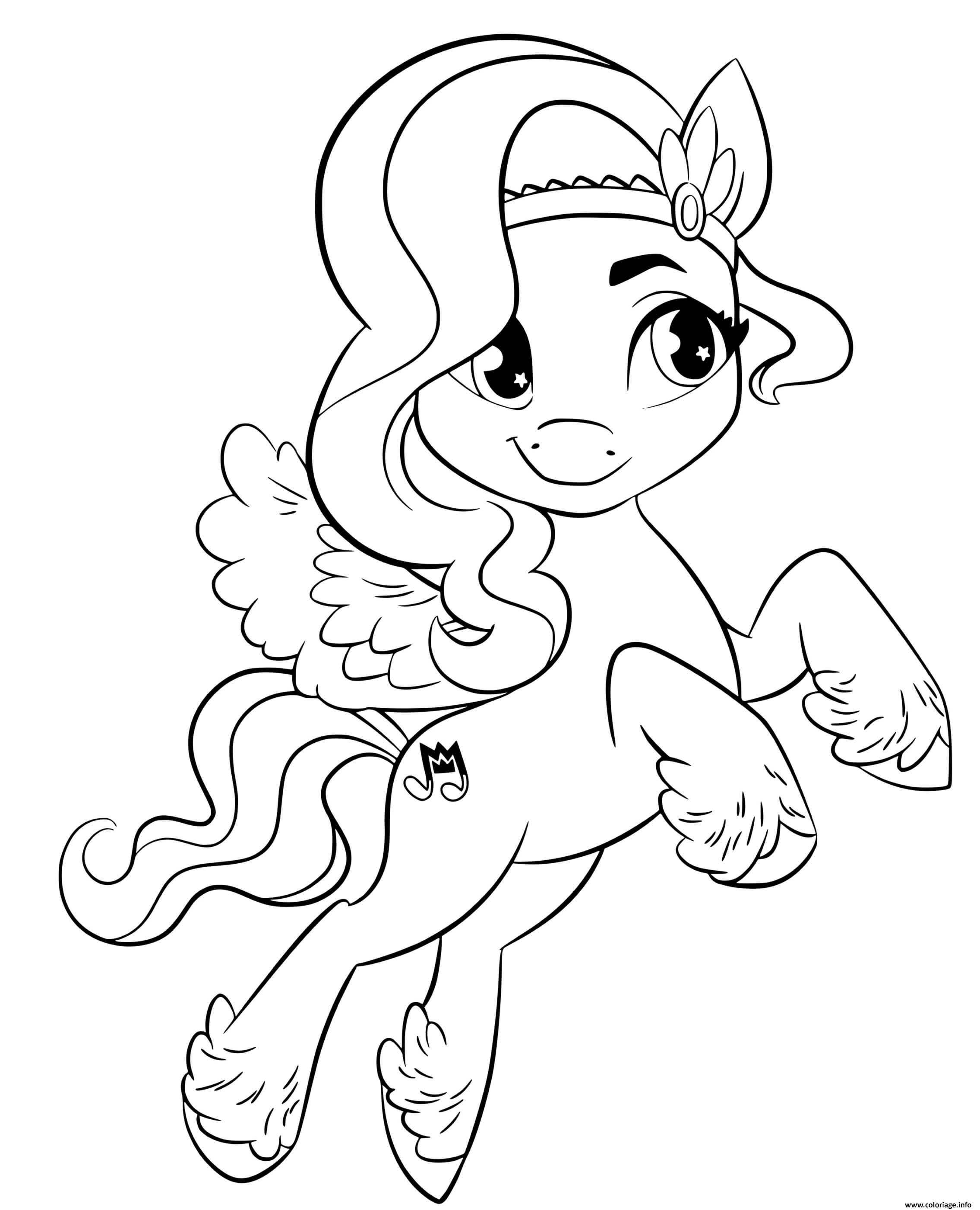 Dessin pipp petals est un poney elegant mlp 5 Coloriage Gratuit à Imprimer