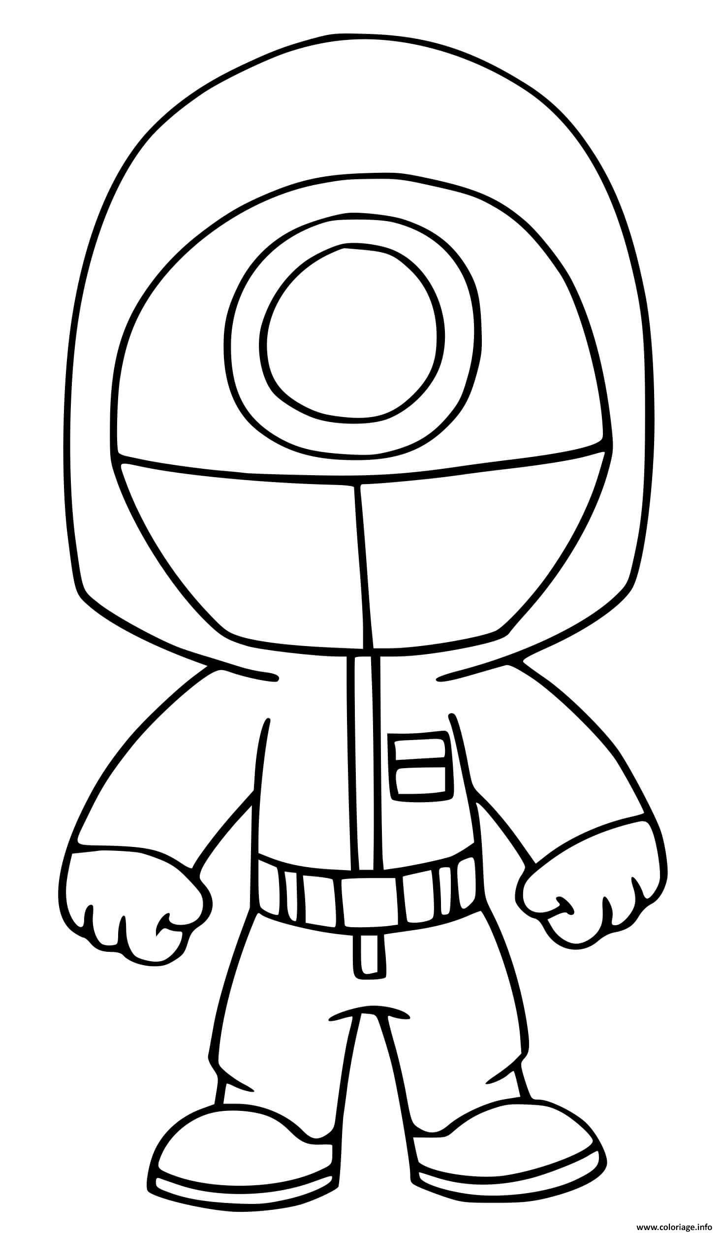Dessin squid game worker game circle Coloriage Gratuit à Imprimer