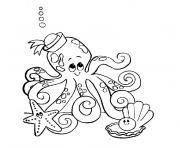animaux aquatique dessin à colorier