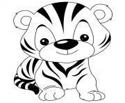de bebe tigre rigolo dessin à colorier