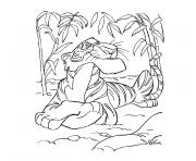 Coloriage animaux jungle