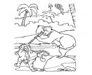 Coloriage jungle animaux