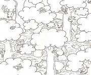 nature et animaux dessin à colorier