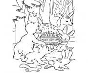 de noel animaux dessin à colorier