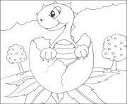 bebe dinosaure dessin à colorier