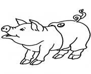 cochon dessin à colorier