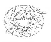 animaux mandala dessin à colorier