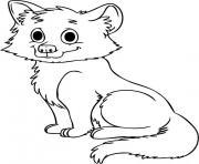 bebe loup dessin à colorier