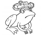 Coloriage grenouille princesse