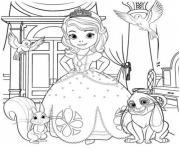 princesse sofia dessin à colorier