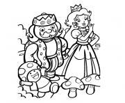 roi et princesse dessin à colorier