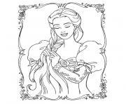 vrac princesse dessin à colorier