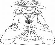 princesse playmobil dessin à colorier