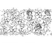 Coloriage princesses disney