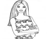 Coloriage tv barbie