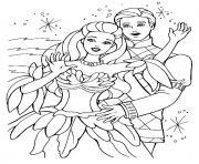 barbie coeur de princesse dessin à colorier