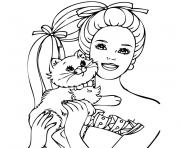 Coloriage barbie mousquetaire