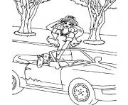Coloriage voiture barbie