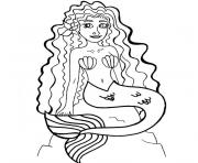 Coloriage barbie la sirene