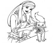 Coloriage barbie chat