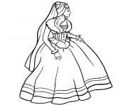 barbie coeur princesse dessin à colorier