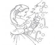 barbie magie de noel dessin à colorier
