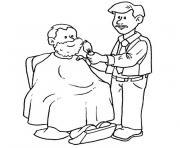 barbier dessin à colorier