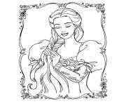 barbie raiponce dessin à colorier