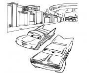Coloriage Cars Flo.Coloriage Flo Et Fillmore Cars Disney Dessin