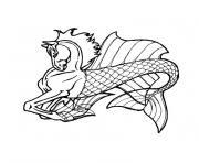 cheval de mer dessin à colorier