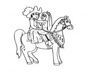 Coloriage cheval princesse