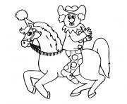 chevaux de cirque dessin à colorier