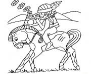 Coloriage cheval indien