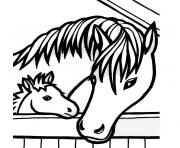 de chevaux dessin à colorier