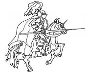 chevalier moyen age dessin à colorier