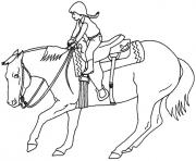 Coloriage chevaux grand galop